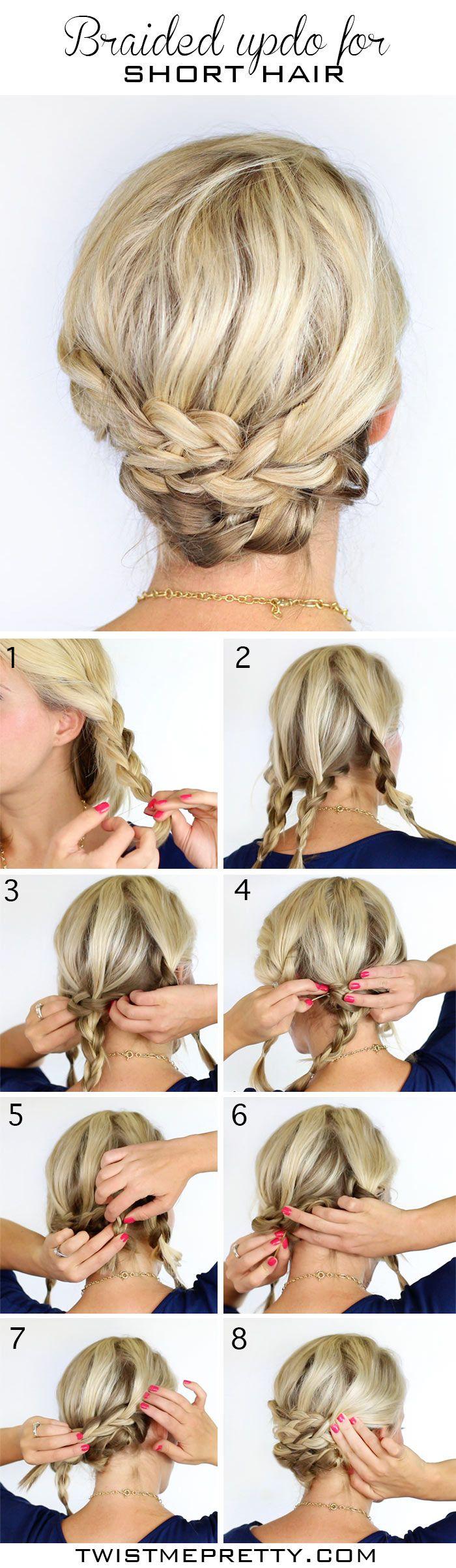 Coiffure chignon pour cheveux courts