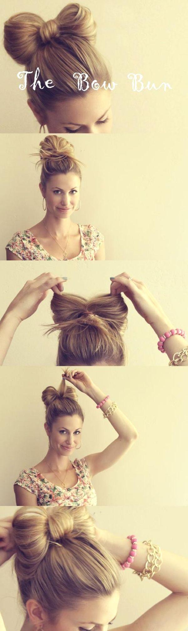 Comment faire un chignon noeud sur cheveux long